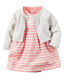 Carter's 2-Piece Dress & Cardigan Set - Pink