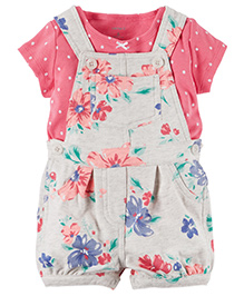 Carter's 2-Piece Top & Shortalls Set - Multicolor