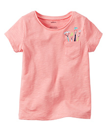 Carter's Paint Brush Pocket Graphic Tee - Pink