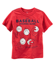 Carter's Baseball Graphic Tee - Red