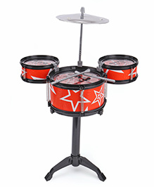 Playmate Drum Set Flash Music Jazz - Red Black