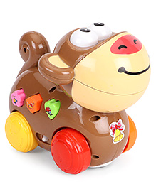 Musical Party Animal Toy Puppy Shape - Brown