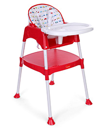 LuvLap 3 In 1 Baby High Chair 18293 - Red