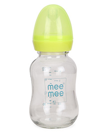 Mee Mee Glass Feeding Bottle Yellow - 125 Ml
