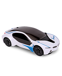 Kumar Toys Bump & Go Racing Car 3D Light - White