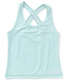 Brzee Stylish Cross Tank Top - Mint Green
