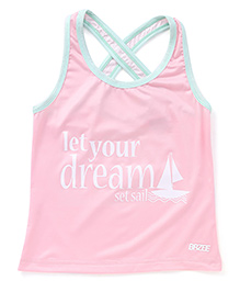 Brzee Cross Tank Top - Baby Pink