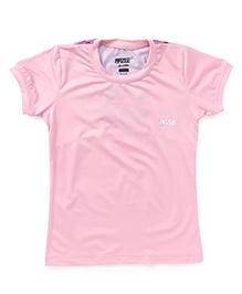 Brzee Crew Neck Short Sleeves Tee - Baby Pink