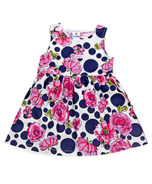 Child World Sleeveless Frock Floral Print - Multi Color