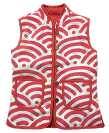 Little Pockets Store Reversible Quilted Jacket - Pink & White