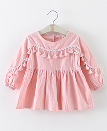 Pre Order - Awabox Tassel Lace Frilly Top - Pink