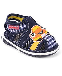 Cute Walk by Babyhug Check Sandals Car Motif -  Blue