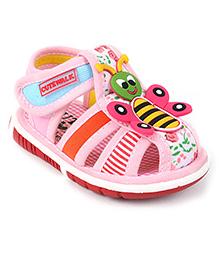 Cute Walk by Babyhug Sandals Honeybee Motif  - Pink