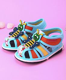 Cute Walk by Babyhug Sandals Honeybee Motif  - Blue
