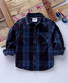 Tonyboy Full Sleeves Checkered Casual Shirt - Blue