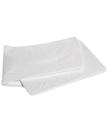 Mothercare - Cotton Fitted Sheet - White