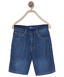 612 League Distressed Denim Shorts - Blue