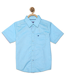 612 League Half Sleeves Plain Shirt - Blue