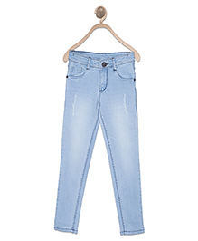 612 League Full Length Jeans - Light Blue