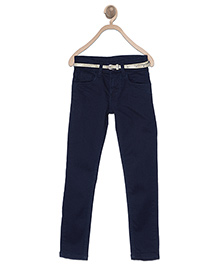 612 League Full Length Jeans With Belt - Blue