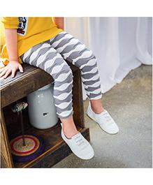 Aakriti Creations Layered Frill Leggings - Grey & White