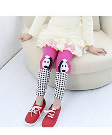 Aakriti Creations Bobby Print With Attached Puppy Face Leggings  - Pink