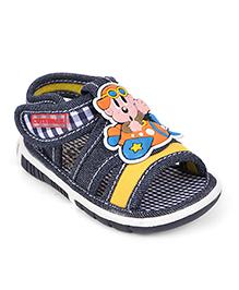 Cute Walk by Babyhug Musical Sandals Areoplane Motif - Navy