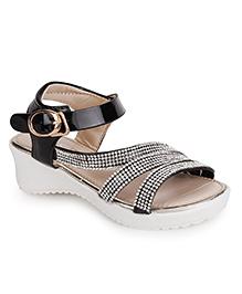 Cute Walk by Babyhug Party Wear Sandals Studded Detailing - Black