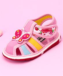 Cute Walk by Babyhug Musical Sandals Butterfly Motif - Pink