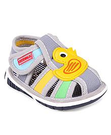 Cute Walk by Babyhug Sandals Duck Motif - Grey