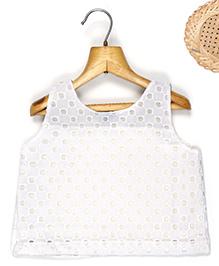Marshmallow Cutwork Bodice Top - White