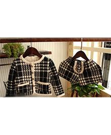Wonderland Checkered Top & Shorts Set - Black