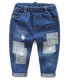 Pre Order - Mauve Collection Rugged Patch Work Denims - Blue