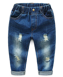 Pre Order - Mauve Collection Rugged Turn Up Denims - Dark Blue