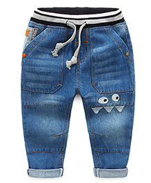 Pre Order - Mauve Collection Character Patch Work Denims - Blue