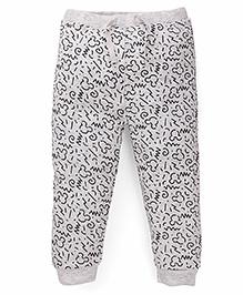 Fox Baby Full Length Track Pant Allover Print - Grey