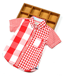 Lil Mantra Checkered Shirt - Red