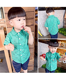 Lil Mantra Animal Printed Shirt - Green