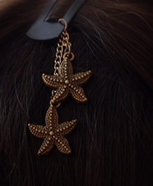 Pretty Ponytails Star Tassel Design Tic Tak Hair Clip - Gold
