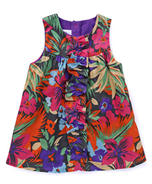 ToffyHouse Sleeveless Frock Printed - Multicolor
