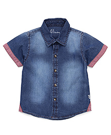 Gini & Jony Stone Wash Denim Shirt - Dark Blue