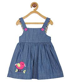 My Lil' Berry Singlet Denim  Applique Dress - Blue