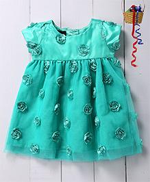 Pspeaches Rose Applique Dress - Green