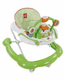 Musical Baby Walker Car Design - Green & White