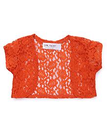 Soul Fairy Gorgeous Lace Shrug - Orange
