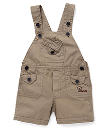 Olio Kids Solid Color Dungaree - Brown