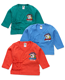 Cucumber Full Sleeves Vests Pack of 3 - Green Blue Coral