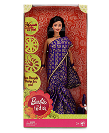 Barbie In India Doll - Purple Golden