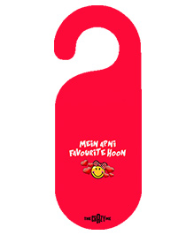 The Crazy Me Mein Apni Favourite Hoon Printed Door Hanger - Red