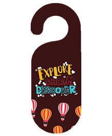 The Crazy Me Explore Dream Discover Printed Door Hanger - Brown